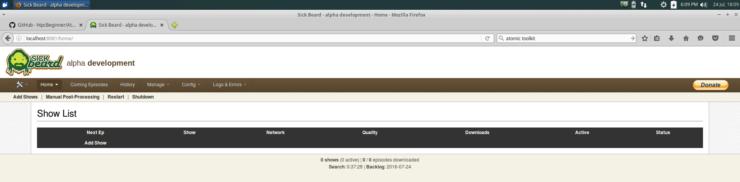 SickBeard WebUI