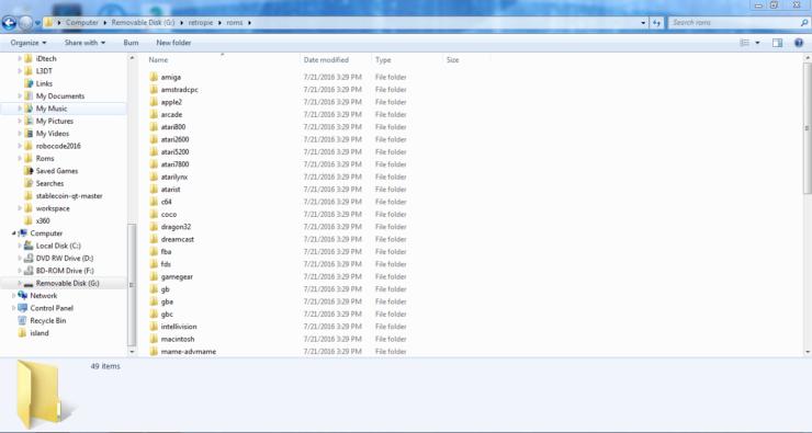 Raspberry Pi Game Emulator Rom Folders