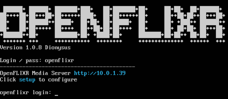 Openflixr Console