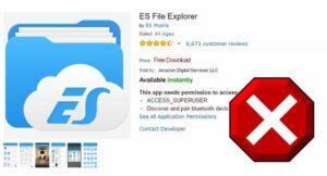 ES File Explorer Blocked on Fire TV