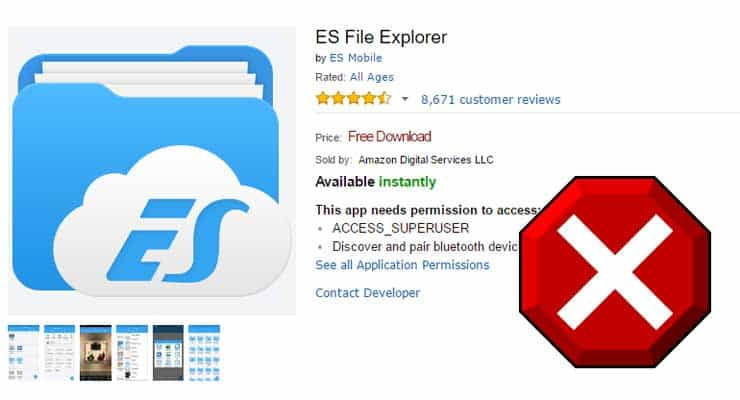 ES File Explorer removed from Fire TV App Store