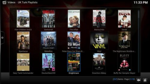 Kodi UK Turks addon content - install Kodi UK Turk addon