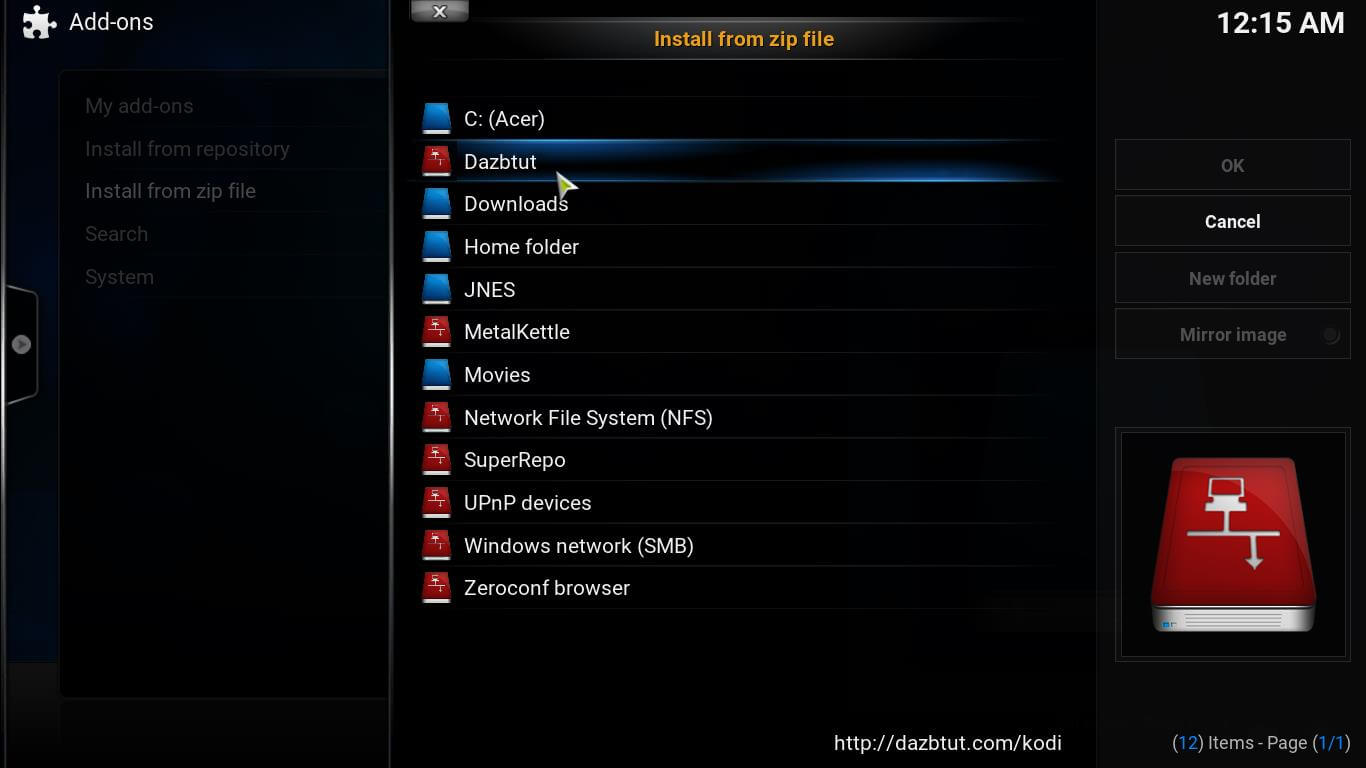 Champion Sports Kodi Plugin folder