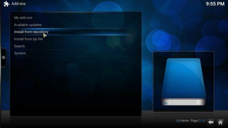 Install NBC on Kodi repository