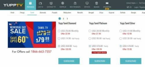 YuppTV Subscription Costs