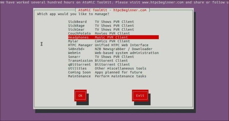 Install Headphones on Debian select
