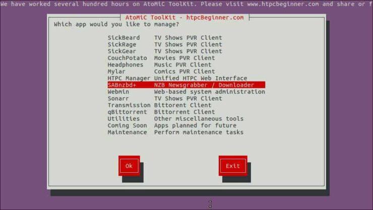 Install SABnzbd on Debian select