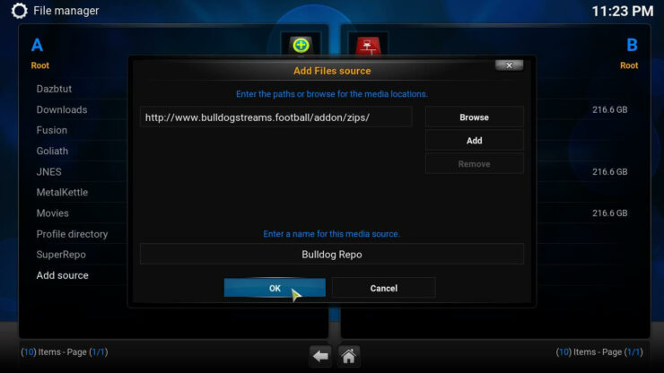 Kodi Bulldog Streams Addon source