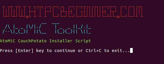 CouchPotato install on Ubuntu verify