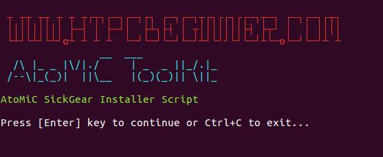 SickGear Installation Ubuntu Server confirm