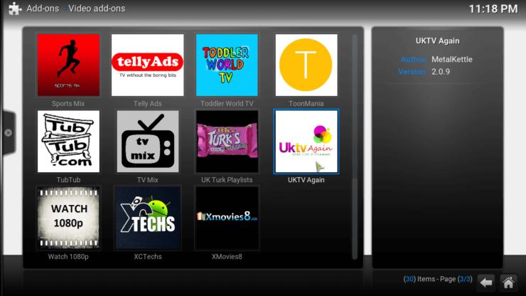 Install UKTV Again Kodi list