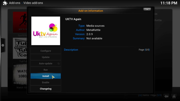 Kodi UKTV Again setup install
