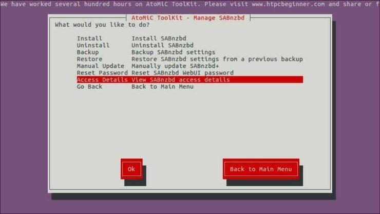 SABnzbd setup Ubuntu details