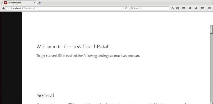 CouchPotato Ubuntu Configuration wizard
