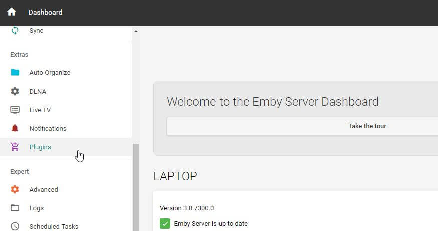 Guide: How to install Emby Vine Plugin on your home server