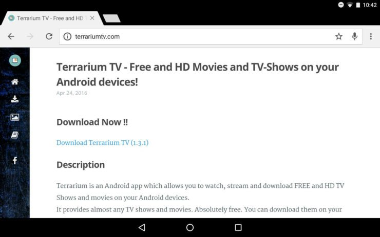 Download Terrarium TV website