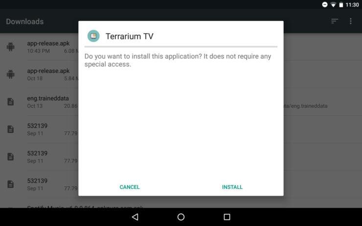 Get Terrarium TV confirm
