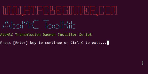 Transmission install Ubuntu verify