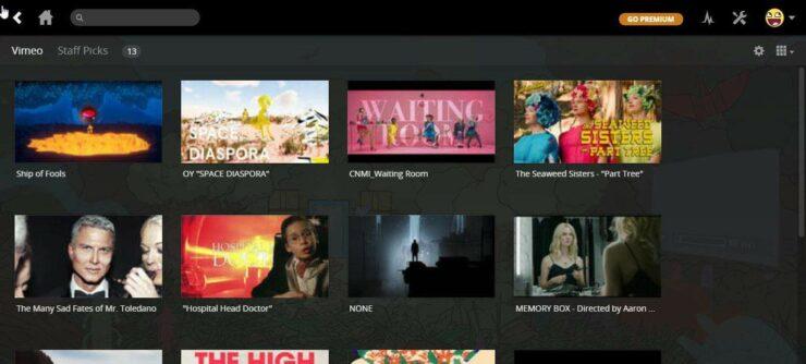 Plex Vimeo Channel content