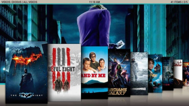 Paradise interface Kodi posters