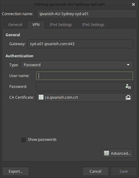 Linux Mint VPN Setup IPVanish