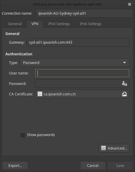 Linux Mint VPN Setup IPVanish