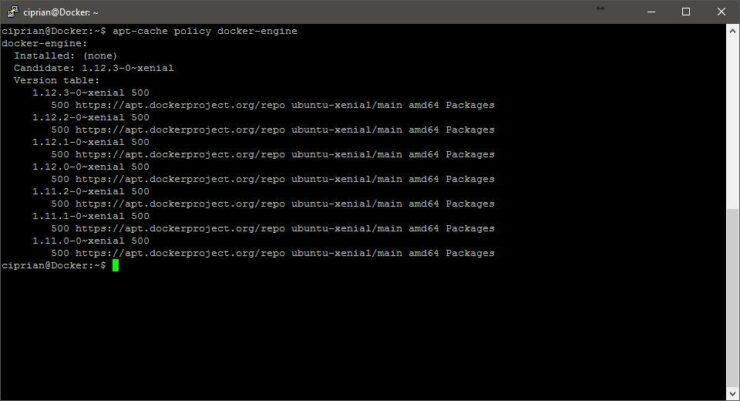 Install Docker on Ubuntu - APT Policy results