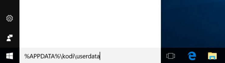 Windows Kodi App Data Folder