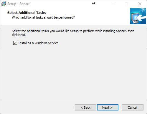 """Install as a Windows Service"" option must be ticked"