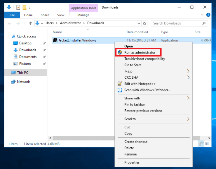 Install Jackett on Windows Server 2016