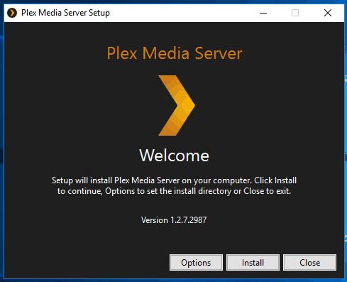 Plex Media server on Windows