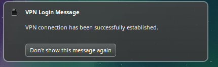 OpenVPN Linux Mint success