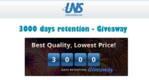 UsenetServer Celebrates 3000 days of retention – Huge Giveaway