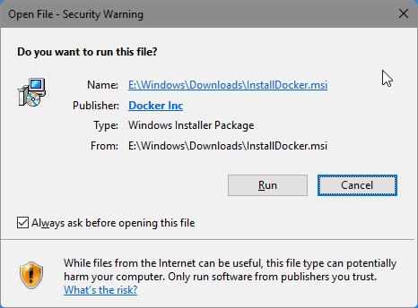 Install Docker on Windows 10