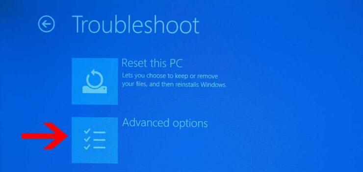 Windows UEFI Advanced Settings