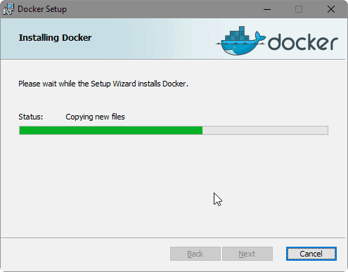 Docker for Windows 10 Installation