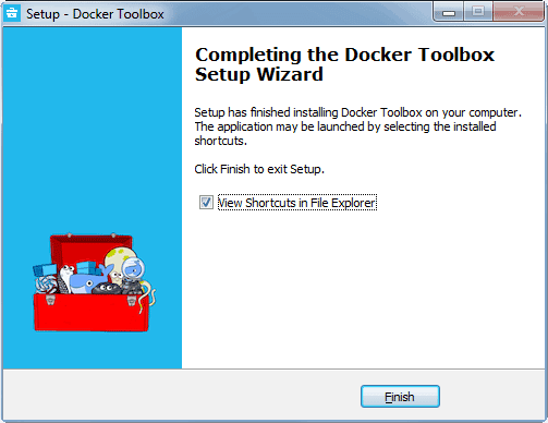 Docker Setup on Windows using Docker Toolbox Complete