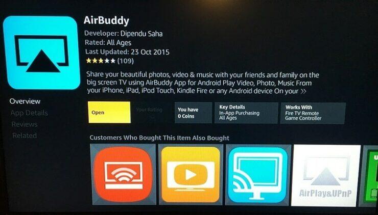 Stream iPhone to Amazon Fire TV using AirBuddy app