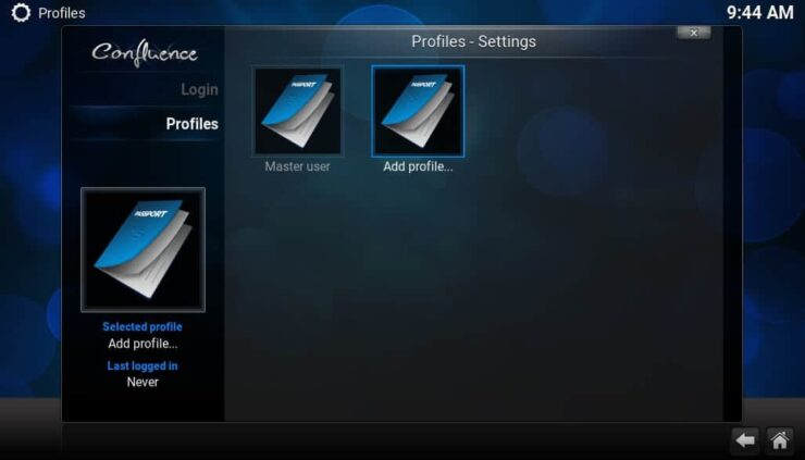 Kodi Multi User Setup - Profile Settings