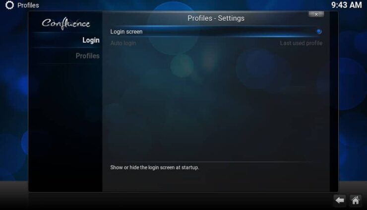 Kodi Login Options