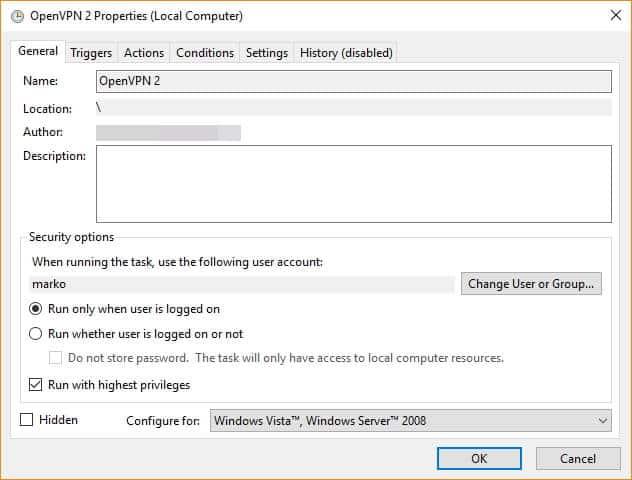 autoconnect windows openvpn setup