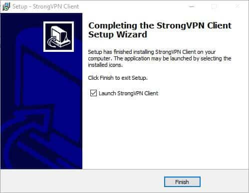 Add StrongVPN to Windows install