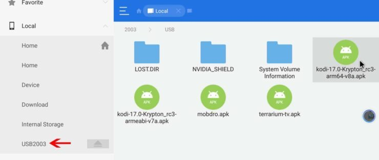 Sideload APK Files on Nvidia Shield TV 2 with ES File Explorer