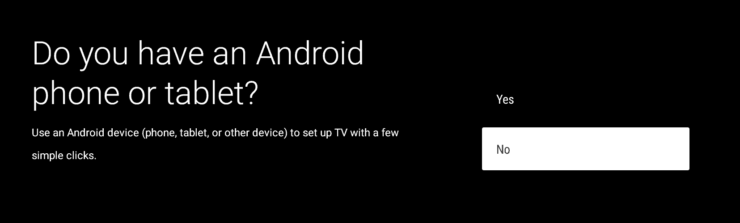 Initial Setup of Nvidia Shield TV 2 without Android Device