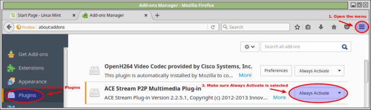 Acestream on Linux mint 18 p2p