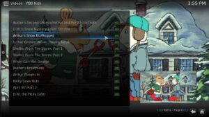 PBS Kids Arthur Kodi streaming