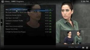OTA TV Channels on Kodi - NBC Blindspot streaming on Kodi