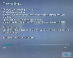EBOX T8 V System Update Information