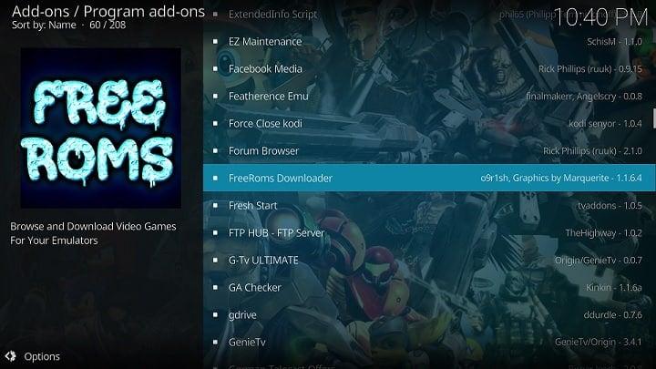 Kodi Free Roms Downloader Addon