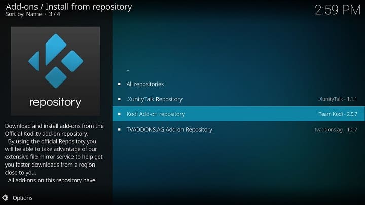 Official Kodi Repository